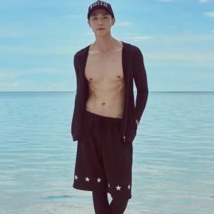 即納 水着 メンズ 長袖 ラッシュガード ハーフパンツ レギンス 3点セット 韓国 シービーチ サーフィン スポーツ ジム おしゃれ 男性用