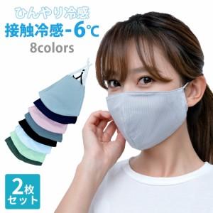 クールマスク 接触冷感 夏用マスク 洗えるマスク 2枚セット ひんやりマスク メッシュ 立体型マスク 急速冷感 メンズ レディース ユニセッ