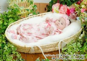 *スウィートガール*ローズお花柄新生児ツーウェイオール【16AW】
