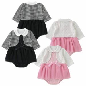 6de1cedf41fec ティノティノワンピース風長袖スカート付きロンパース ベビー服  赤ちゃん  服