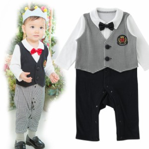 2c7a3b52c72bb ティノティノベスト風フォーマル長袖カバーオール ベビー服  赤ちゃん  服