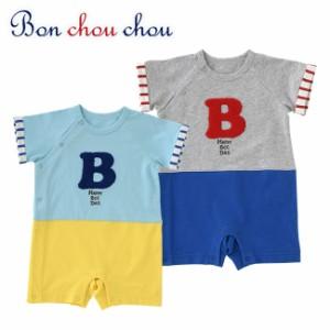 f0de1785de859 ボンシュシュセットアップ風半袖カバーオール ベビー服  赤ちゃん  服