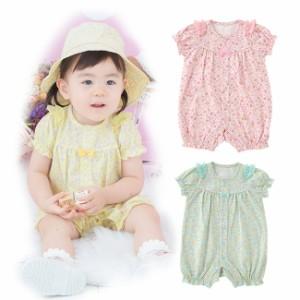 05bf60126c503 スウィートガール小花柄半袖カバーオール ベビー服  赤ちゃん  服