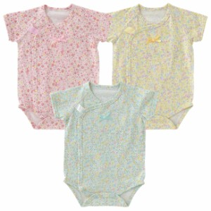 f17dfcbdd3a6c スウィートガール半袖前開きロンパース ベビー服  赤ちゃん  服