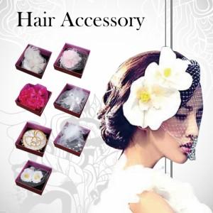 髪飾り ヘッドドレス 花 アクセサリー 女の子用 フラワー コサージュ 赤 パープル ピンク 卒業式 結婚式 HEADDRESS
