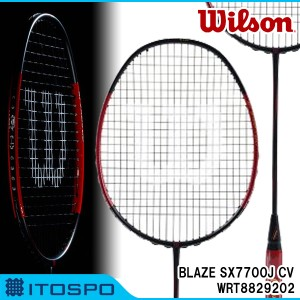 【張り代込】ウイルソン バドミントンラケット ブレイズSX7700J CV WRT8829202 張らない方は1200円引
