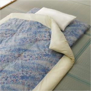 国産和仕立て綿混合掛布団軽量敷布団セット