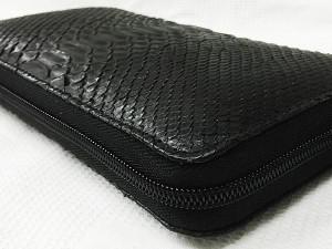 53fc667a23a8 RODANIA パイソン/ラウンドファスナー長財布/OKU6754-BK(黒)の通販は ...