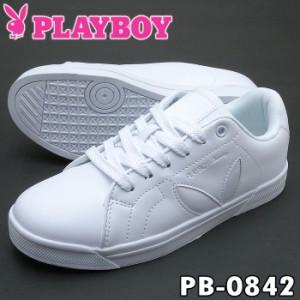 PLAYBOY Bunny プレイボーイ レディース スニーカー PB-0842 ホワイト おすすめプレイボーイスニーカー PB0842 92108421