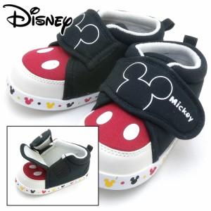 ec96947bfb42c ディズニー ベビー がばっと開いて はきやすい ファーストシューズ DS0150 ミッキーマウス ブラック Pssale