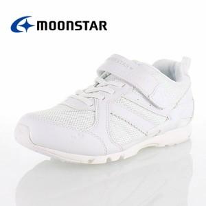 ムーンスター MoonStar スーパースター SS J753 ホワイト バネのチカラ ジュニア キッズ スニーカー 2E オールホワイト 女の子向け