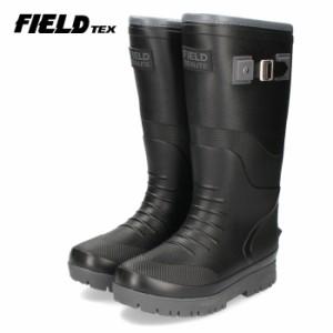 FIELD texlite フィールドテックス 靴 FT-2397 EVA 長靴 軽量 防滑 雨 雪 黒 ブラック メンズ スノーブーツ