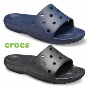 crocs クラシック クロックス スライド Classic Crocs Slide 206121 シャワーサンダル メンズ レディース ブラック ネイビー スポーツサ