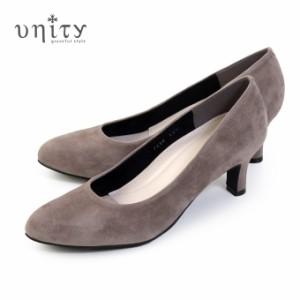 unity 靴 ユニティ パンプス 本革 スエード 7694 OKS ヒール レディース レザーパンプス ワイズ 2E