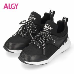 【還元祭クーポン対象】 ALGY スニーカー キッズ ジュニア シューズ ブラック 4000 子供靴 女の子 アルジー