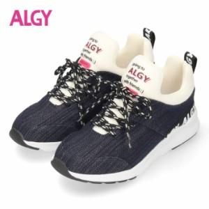 【還元祭クーポン対象】 ALGY スニーカー キッズ ジュニア シューズ ネイビー 4000 子供靴 女の子 アルジー