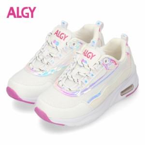 【還元祭クーポン対象】 ALGY スニーカー アルジー キッズ ジュニア ダッドスニーカー ホワイト 4023 女の子 子供靴