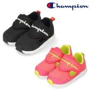 チャンピオン キッズ スニーカー ベビーシューズ CP BA047 BABY BEANS FOAM SDL ブラック ピンク 黒 子供靴 ムーンスター