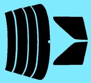 トヨタ ソアラ 後期 カット済みカーフィルム Z2# 1台分 スモークフィルム 1台分 リヤーセット