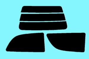 スバル ヴィヴィオ3D カット済みカーフィルム KK#/KW# 1台分 スモークフィルム 1台分 リヤーセット