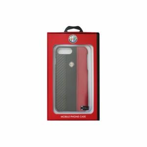 ALFA ROMEO 公式ライセンス iPhone8Plus/7Plus Carbon Fibre 合皮 Hard Case PU バックカバー AR-HCIP7P-4CD5-RD