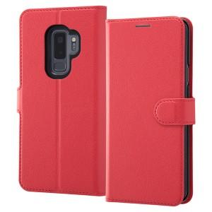 23d5f614ee Galaxy S9+ 手帳型ケース シンプル マグネット レッド RT-GS9PELC1/R RT-GS9PELC1