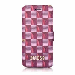 99ee9153d9 GUESS 公式ライセンス品 iPhone6s iPhone6 手帳型ケース ピンク ブランド カードポケット付 ロゴ入り