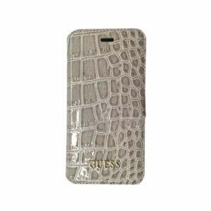 4f7ab5de00 GUESS 公式ライセンス品 iPhone6sPlus iPhone6Plus 手帳型ケース ベージュ ブランド カードポケットマグネット クロコ調
