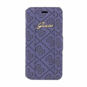 bc65cd172f GUESS 公式ライセンス品 iPhone6s iPhone6 手帳型ケース ネイビー ブランド ロゴ入り ソフトレザー PU