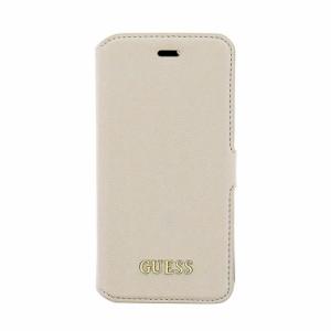 971862d575 GUESS 公式ライセンス品 iPhone6s iPhone6 手帳型ケース ベージュ ブランド カードポケット付 サフィアーノ レザー