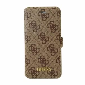 47a1e13718 GUESS 公式ライセンス品 iPhoneSE/5s/5 手帳型ケース ブラウン ブランド カードポケット