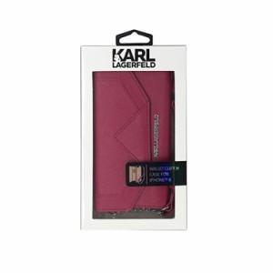 0409ce033b Karl Lagerfeld 公式ライセンス品 iPhone6s iPhone6 手帳型ケース レッド ブランド ストラップ付き クラッチ 三