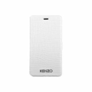 913ce50b4e KENZO 公式ライセンス品 iPhone6sPlus iPhone6Plus 手帳型ケース ホワイト ブランド マグネット クロコ調  KZCROCOFOIP65B