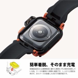4c61f1d3a4 Apple Watch Series 4 44mm バンドケース カーキ アウトドア レジャー カバー ベルト タフ 保護 耐衝撃 AW -44BCNESTKH