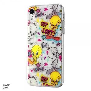 iPhone XR ハイブリッドケース トゥイーティー/graffiti 耐衝撃 カバー クリア キャラ グッズ イングレム IJ-WP18TP-TW003