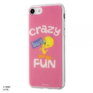 iPhone8/7 ハイブリッドケース トゥイーティー/PINK 耐衝撃 TPUソフト素材 クリア イングレム IJ-WP7TP-TW001