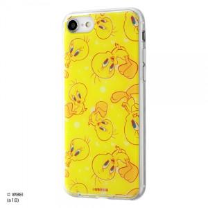 iPhone8/7 ハイブリッドケース トゥイーティー/POP 耐衝撃 TPUソフト素材 クリア イングレム IJ-WP7TP-TW004