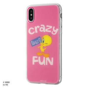 iPhoneXS iPhoneX ハイブリッドケース トゥイーティー/PINK 耐衝撃 カバー キャラ グッズ イングレム IJ-WP8TP-TW001