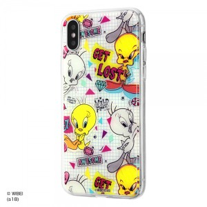 iPhoneXS iPhoneX ハイブリッドケース トゥイーティー/graffiti 耐衝撃 カバー キャラ グッズ イングレム IJ-WP8TP-TW003