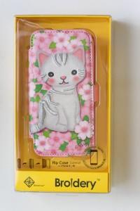 iPhoneSE iPhone5S iphone5 ケース ネコ ねこ 猫 手帳型 手帳 Armour IMD Cherry Blossom and cat
