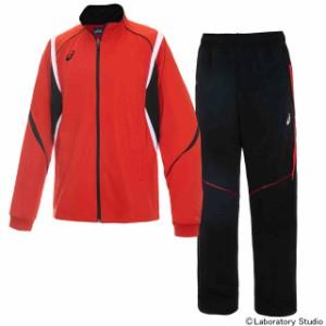 アシックス トレーニングジャケット&ロングパンツ上下セット レッド×ブラックレッド asics XAT143-23-XAT243-9023