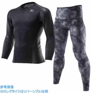ミズノ  MIZUNO バイオギアシャツ BG7000T&ロングタイツ BG9000上下セット ブラック×ブラックチャコール