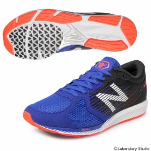 ec876df3a102a ニューバランス 陸上競技 レーシングシューズ マラソンシューズ メンズ NB HANZO R ブルー×オレンジ MHANZRB2