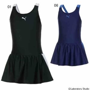 プーマ キッズ 子供服 水着  女の子 ジュニア GIRLS スカート付スイムスーツ PUMA 920875