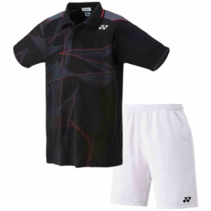 fd6d657adbc79 ヨネックス ジュニア ゲームシャツ&ハーフパンツ上下セット ブラック×ホワイト YONEX 10272J-007