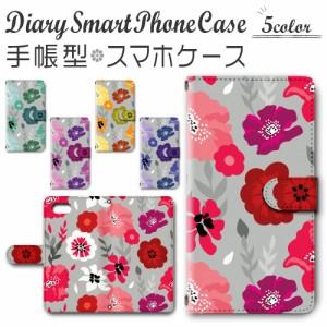 スマホケース 手帳型 iPhone8 / iPhoneSE (第2世代) 4.7inchモデル 対応送料無料 花柄 フラワー ボタニカル 北欧 北欧風 / dc-980