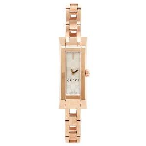 グッチ 時計 レディース GUCCI YA110522 G LINK 腕時計 ウォッチ ホワイトパール/ピンクゴールド レディース
