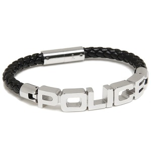 6b5de640e79e ポリス ブレスレット メンズ POLICE 23873BLB-S POLICE B SIGNATURE バングル シルバー/ブラック