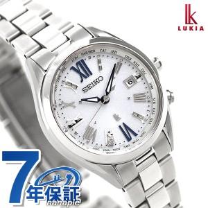 e835f25ad3 【あす着】セイコー ルキア レディダイヤ チタン 電波ソーラー 腕時計 SSQV053 SEIKIO LUKIA シルバー