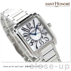 b35c437166 サントノーレ マンハッタン スイス製 レディース SN7221051YFB SAINT HONORE 腕時計 クオーツ ホワイトシェル